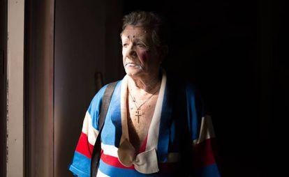 O palhaço Romiseta (Agostinho Blask), antes de um espetáculo no dia 23 de abril.