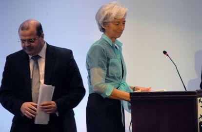 Christine Lagarde e o presidente do Banco Central, Alexandre Tombini, no Rio.