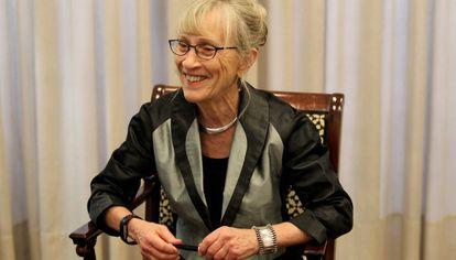 Claudia Goldin, durante a entrevista em Bilbao.