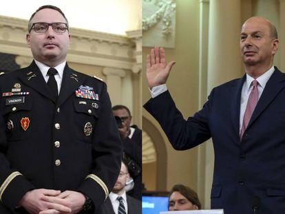 O coronel Alexander Vindman e o embaixador dos EUA para a União Europeia, Gordon Sondland.