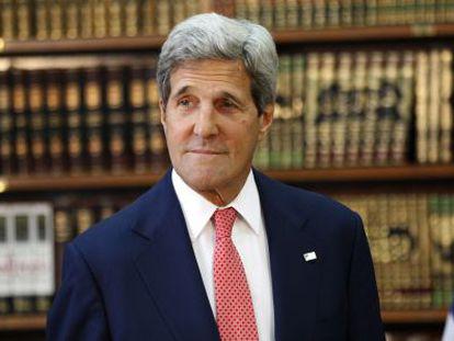 O secretário de Estado dos EUA, John Kerry, na quarta-feira em Bagdá.