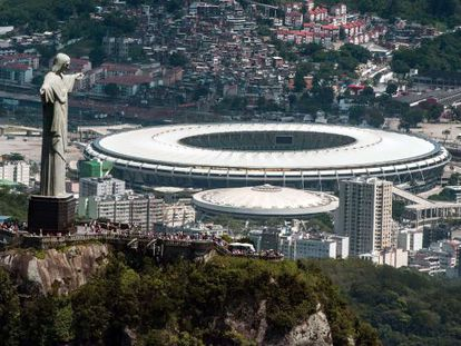 Vista aérea do estádio Mário Filho (Maracanã).