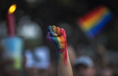 Protesto pela igualdade sexual nos EUA em 2016