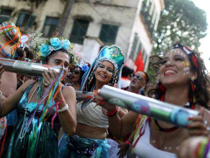 Foliãs em bloco no RIo.