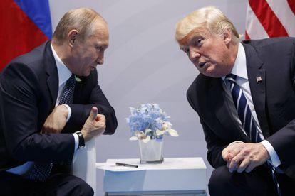 Putin e Trump, durante reunião em julho na Alemanha.