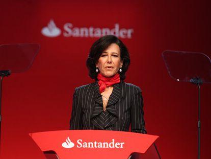 Ana Botín preside nesta segunda-feira sua primeira reunião do Santander.
