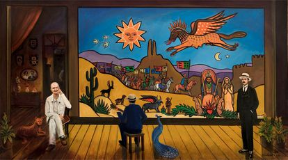 Ilustração sobre o movimento Armorial do artista Flavio Tavares.